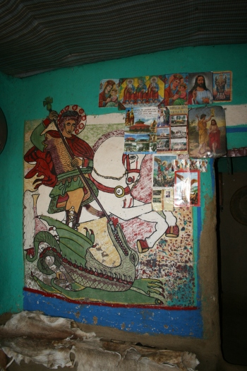St. George and the Dragon figures prominantly in the Orthadox culture.